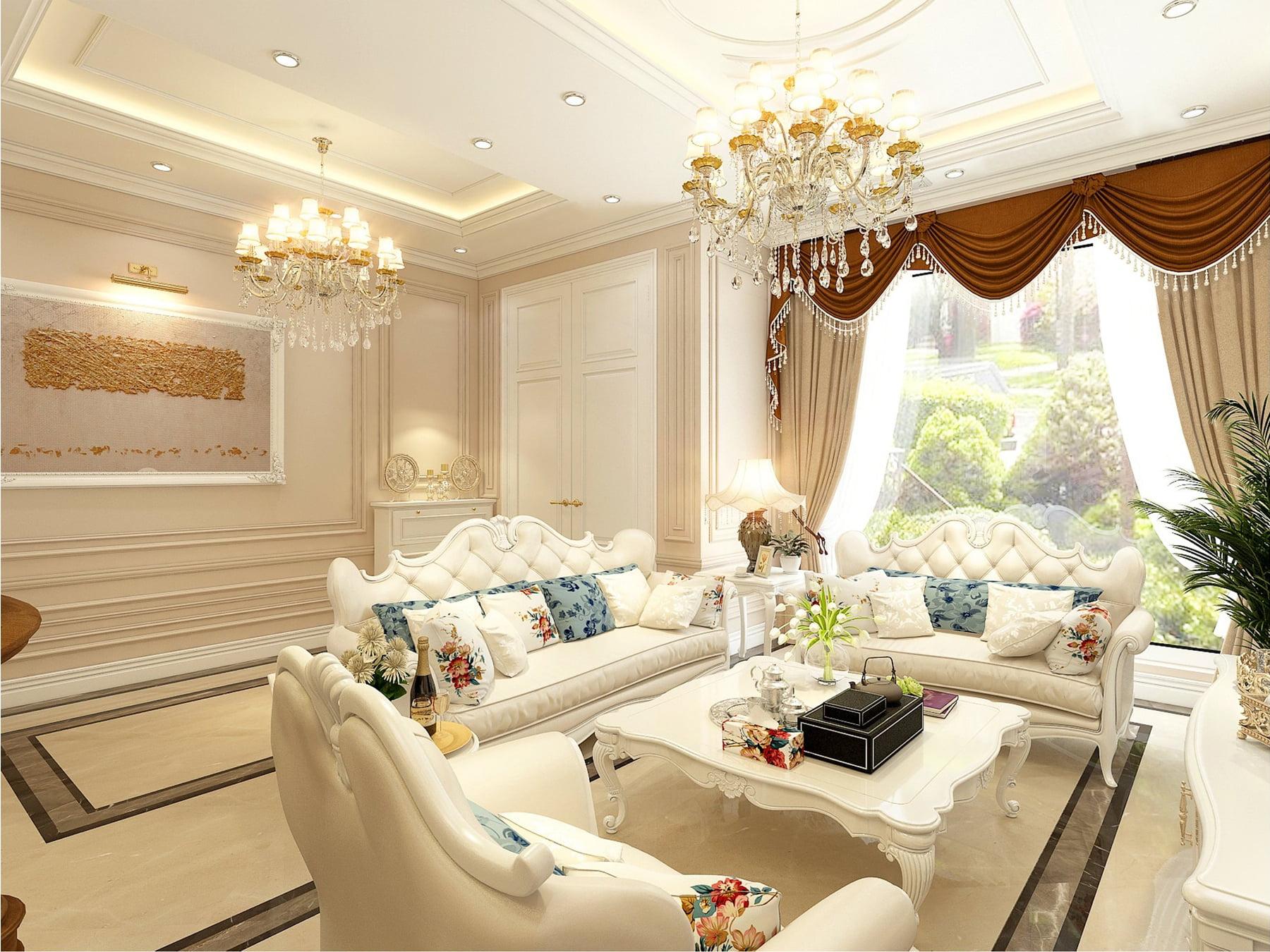 Thiết kế nội thất Tân cổ điển – Anh Tiến – Vinhomes Marina Hải phòng