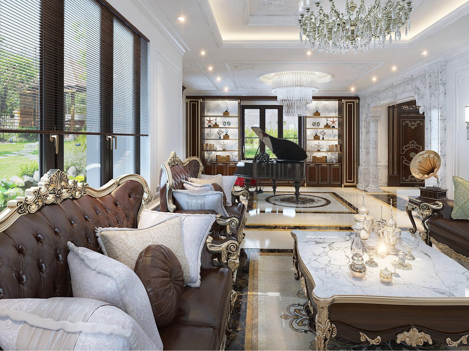 Mẫu nội thất Tân cổ điển nhẹ nhàng – Bà Hằng – KĐT Seasons Avenue Hà Đông