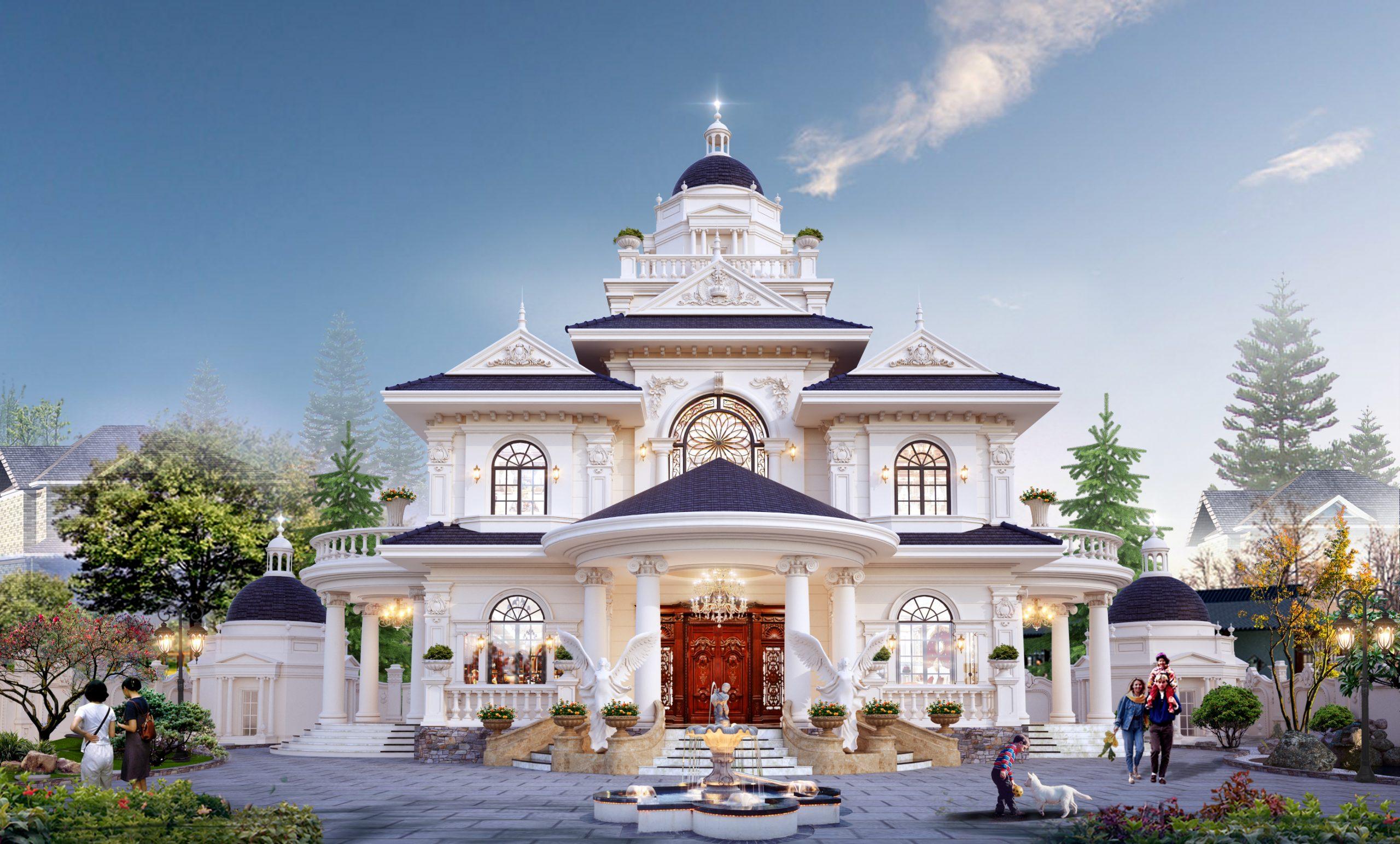 Top 10 Mẫu Biệt Thự Tân Cổ Điển 3 Tầng Đẹp