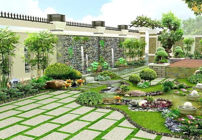 sân vườn đep
